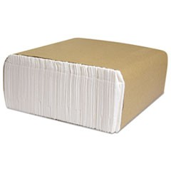 North River Dinner Napkins, 1-Ply, 3 3/4 x 8 1/2, White, 250/Pk, 5000/Carton