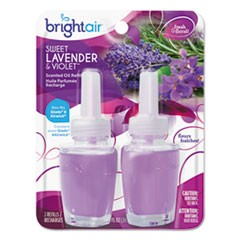Electric Scented Oil Air Freshener Refill, Sweet Lavender/Violet, 0.67 oz Jar, 2/Pack , 6 Packs/Carton