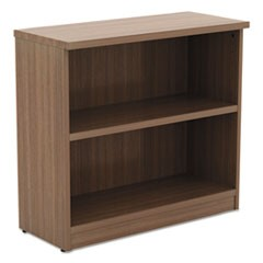 Alera Valencia Series Bookcase,Two-Shelf, 31 3/4w x 14d x 29 1/2h, Modern Walnut