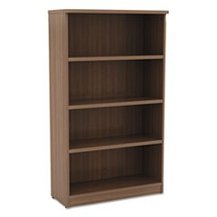 Alera Valencia Series Bookcase, Four-Shelf, 31 3/4w x 14d x 55h, Modern Walnut