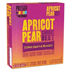 Pressed by KIND Bars, Apricot Pear Carrot Beet, 1.2 oz Bar, 12/Box