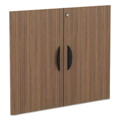 Alera Valencia Series Cabinet Door Kit For All Bookcases, 15.63w x 0.75d x 25.25h, Modern Walnut