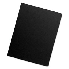Futura Binding System Covers, Round Corners, 11 1/4 x 8 3/4, Black, 25/Pack