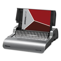Fellowes Quasar 500 Electric Comb Binding System, 16 7/8 X 15 3/8 X 5 1/8, Metallic Gray
