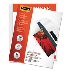 "Laminating Pouches, 5 mil, 9"" x 11"", Gloss Clear, 100/Pack"
