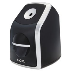SharpX Classic Electric Pencil Sharpener, Black/Silver