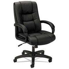 HVL131 Executive High-Back Chair, Supports up to 250 lbs., Black Seat/Black Back, Black Base