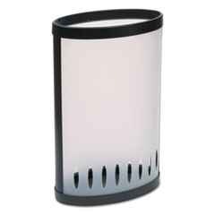 "Elliptical Umbrella Stand, 14 7/8""w x 8 3/4""d x 23 3/8""h, Translucent"