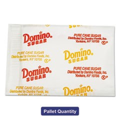 Domino Sugar Portion Packets, 0.01 Oz Packets, 2000/Carton, 72 Carton/Pallet