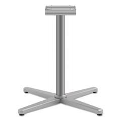 "Arrange X-Leg Base for 42-48"" Tops, 32w x 32d x 29h, Textured Satin Chrome"