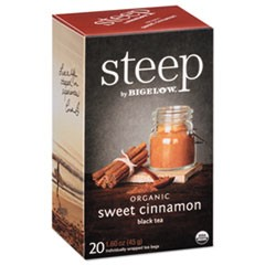 steep Tea, Sweet Cinnamon Black Tea, 1.6 oz Tea Bag, 20/Box