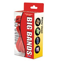 "Big Bands Rubber Bands, Size 117B, 0.07"" Gauge, Red, 48/Box"