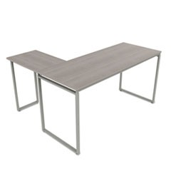 Seven Series L-Shaped Desk, 59 x 47 1/4 x 29 1/2, Ash