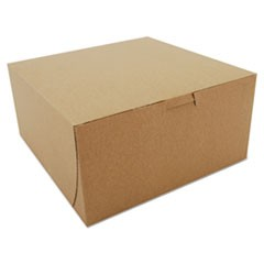 Bakery Boxes, Kraft, Paperboard, 8 x 8 x 4, 250/Carton