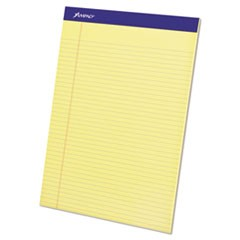 Perforated Writing Pads, Narrow Rule, 8.5 x 11.75, Canary, 50 Sheets, Dozen