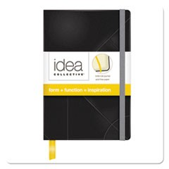 Idea Collective Journal, Hard Cover, Side Bound, 5 1/2 x 3 1/2, Black, 96 Sheets
