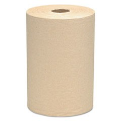 Scott Essential Hard Roll Towel, 100% Recycled, 1.5  Core, 8 X 400 Ft, Natural, 12/Ct