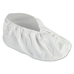 A40 Liquid and Particle Protection Shoe Covers, Medium, White, 400/Carton