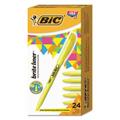 Brite Liner Highlighter, Chisel Tip, Yellow, 24/Pack