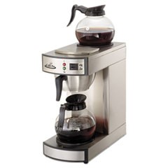 Two-Burner Institutional Coffeemaker,10/12 Cup, Stainless Steel,8.75x14.75x15.25