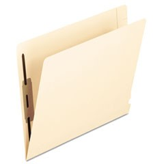 Manila Laminated End Tab Folders with Two Fasteners, Straight Tab, Letter Size, 14 pt. Manila, 50/Box