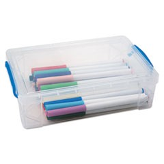 Super Stacker Large Pencil Box, 9 x 5 1/2 x 2 5/8, Clear