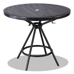 "CoGo Tables, Steel, Round, 36"" Diameter x 29 1/2"" High, Black"