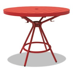"CoGo Tables, Steel, Round, 30"" Diameter x 29 1/2"" High, Red"