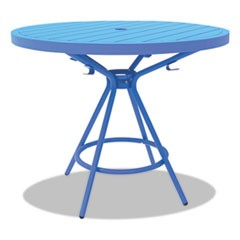 "CoGo Tables, Steel, Round, 36"" Diameter x 29 1/2"" High, Blue"