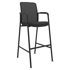 VL528 Mesh Back Multi-Purpose Stool with Arms, Black, 2/Carton