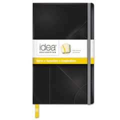 Idea Collective Journal, Hard Cover, Side Binding, 8 1/4 x 5, Black, 120 Sheets