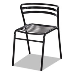 CoGo Steel Outdoor/Indoor Stack Chair, Black, 2/Carton
