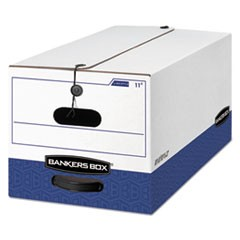 Bankers Box Liberty Heavy-Duty Strength Storage Boxes, Letter Files, 12.25  X 24.13  X 10.75 , White/Blue, 12/Carton