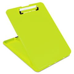 "SlimMate Storage Clipboard, 1/2"" Clip Capacity, 8 1/2 x 11 Sheets, Hi-Vis Yellow"