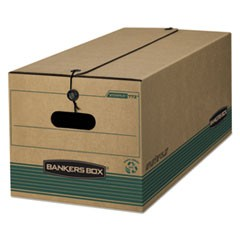 Bankers Box Stor/File Medium-Duty Strength Storage Boxes, Legal Files, 15.25  X 24.13  X 10.75 , Kraft/Green, 12/Carton