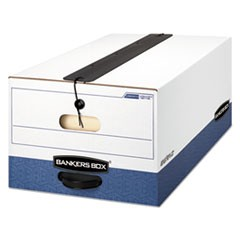 Bankers Box Liberty Plus Heavy-Duty Strength Storage Boxes, Legal Files, 15.25  X 24.13  X 10.75 , White/Blue, 12/Carton