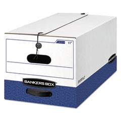 Bankers Box Liberty Heavy-Duty Strength Storage Boxes, Letter Files, 12.25  X 24.13  X 10.75 , White/Blue, 4/Carton