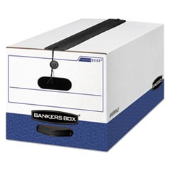 Bankers Box Liberty Plus Heavy-Duty Strength Storage Boxes, Letter Files, 12.25  X 24.13  X 10.75 , White/Blue, 12/Carton