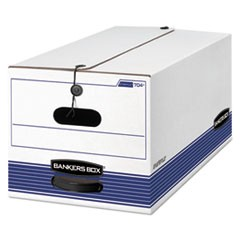 Bankers Box Stor/File Medium-Duty Strength Storage Boxes, Letter Files, 12.25  X 24.13  X 10.75 , White/Blue, 12/Carton