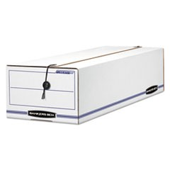 "LIBERTY Check and Form Boxes, 9"" x 24.25"" x 7.5"", White/Blue, 12/Carton"