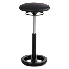 "Twixt Extended-Height Ergonomic Chair, 32"" High, Black Vinyl"