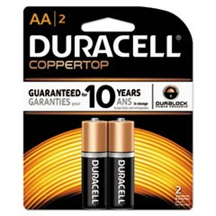 CopperTop Alkaline Batteries, AA, 2/PK