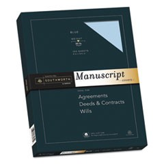 25% Cotton Manuscript Cover, 30lb, 9 x 12 1/2, 100/PK