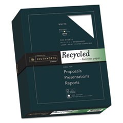 25% Cotton Recycled Business Paper, 20lb, 90 Bright, 8 1/2 x 11, 500 Sheets