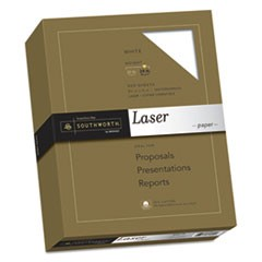 25% Cotton Laser Paper, 95 Bright, 24 lb, 8.5 x 11, White, 500/Ream