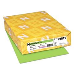 Color Cardstock, 65lb, 8 1/2 x 11, Martian Green, 250/Pack