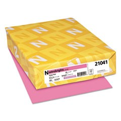 Color Cardstock, 65lb, 8 1/2 x 11, Pulsar Pink, 250 Sheets