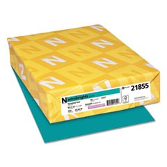 Color Cardstock, 65lb, 8 1/2 x 11, Terrestrial Teal, 250/Pack