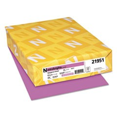 Color Cardstock, 65lb, 8 1/2 x 11, Outrageous Orchid, 250/Pack