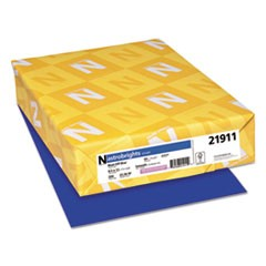 Color Cardstock, 65lb, 8 1/2 x 11, Blast-Off Blue, 250/Pack